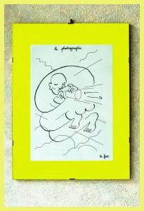 Autoportrait-dessin Hugo avec cadre